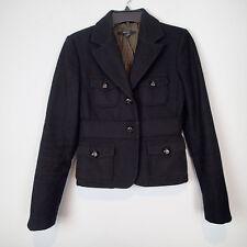zara Ladies Jacket, COAT TOP SZ XS BLACK WOOL BLEND JACKET T9