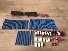 LEGO VINTAGE Blue Train Track Parts Wheels Axel JOB LOT | FREE POSTAGE