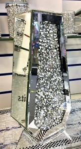Luxury Elegance Mirrored Crushed Crystal Diamond Diamante Decorative Vase 40cm✨