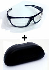 Day Driving Vision Anti Glare White Lens Sunglasses Goggles Sun Glasses case