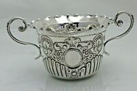Antique Sterling Solid Silver Two Handled Sugar Bowl  London 1899 (1732/9/LGY)