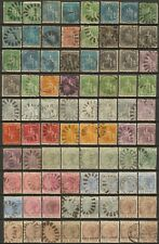 Barbados QV stamps (80) Mint Hinged, Used to Fine Used & Unused no gum high cat
