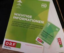 ORF Digital Karte HD (Smartcard) Neu und Freigeschaltet für 5 Jahre