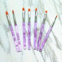 7Pcs UV Gel Acrylic Painting Drawing Pen Nail Art Pen Brush Polish Builder Tools