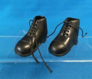 Original ACTION MAN Vintage Pair BLACK Laced BOOTS 1960s PALITOY GI Joe HASBRO