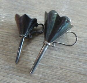 PAIR OF ANTIQUE SOLID SILVER MINIATURE FUNNELS