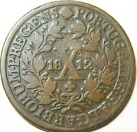 1812 Portugal Azores X Reis  1812  Scarce Date  A46-273