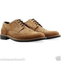 Redfoot Faraday Suede Brogue Tan Mens Mens Lace Up Shoes UK 9/Euro 43