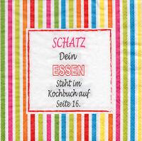 4 Servietten Motivservietten Serviettentechnik Text Spruch Redewendung (1308)
