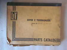vintage LeTourneau Super C Tournadozer Parts Catalog form Pc-346 Rev 3