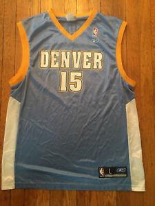Vintage Reebok Denver Nuggets #15 Carmelo Anthony NBA Basketball Jersey L