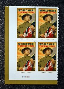 2018USA #5300 Forever World War I - Turning the Tide - Plate Block of 4  Mint  1