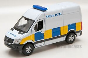 Mercedes-Benz Sprinter UK police van, Welly 43730F, scale 1:34-39, toy car gift