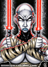 STAR WARS Boba Fett Asajj Ventress Darth Maul MINI-PRINT 3-PACK Garrett Blair