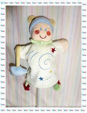 C - Doudou Semi Plat Marionnette Lutin Escargot Spirale Blanc Bleu Kiabi