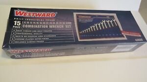 15 PIECE COMBINATION METRIC WRENCH SET *BRAND NEW AND UNOPENED* 4JMA8 WESTWARD