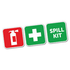 First Aid Fire Extinguisher And Spill Kit Sticker