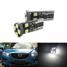 10x Ampoule W5W T10 8 LED SMD Anti Erreur Blanc Veilleuse Feu de Position Tuning