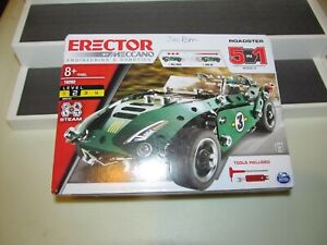 Erector by Meccano 5 in 1 Roadster Models Engineering & Robotics Kit New In Box