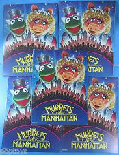 Movie Program Lot of 5 '84 vtg Muppets Take Manhattan Jim Henson Piggy Kermit