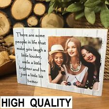 7x5' Personalised Wooden Photo & Quote Block Friendship Best Friend Present Gift
