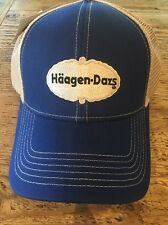 Haagen Dazs  Blue Tan Mesh Adjustable Hat Cap NEW