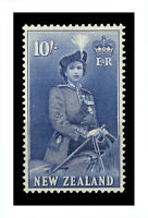 New Zealand 1954 Queen Elizabeth QEII 10/- Ultramarine Stamp SG736 Fresh MUH 7-6