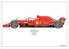 2018  Kimi Raikkonen Ferrari SF71-H ltd ed. 1 /250 signed & numbered by artist