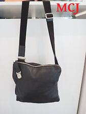 'Authentic' Bally Mezzi Black Calf Leather Messenger Bag