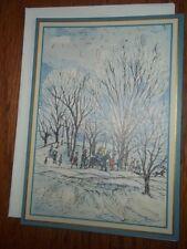 RARE Vintage Artist Ursula Arndt Christmas Card Made Switzerland George Caspari