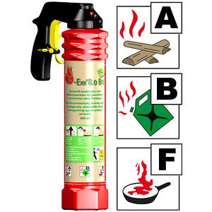 F-Exx 8.0 Bio Allround-Feuerlöscher Großes Feuerlöschspray ohne Treibgas