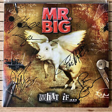 MR. BIG what if... fully signed VINYL LP autographed Paul Gilbert Billy Sheehan