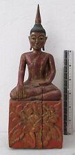 "Laos Teak Calling Earth to Witness Buddha Buddhist Temple Relic Ornament 18"""