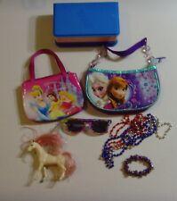 TOYS FOR GIRLS LOT Disney Purses, Sunglasses, Jewelry, Box & Pegasus 9 PIECES