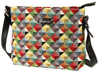 Signare Ladies Woven Tapestry Across Body Shoulder Bag In Triangle Design