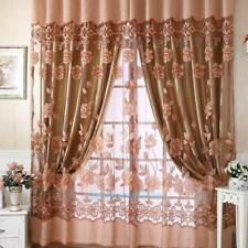 Romantic Floral Tulle Voile Door Window Curtain Sheer Scarf Panel Drape Valance