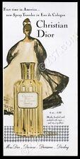 1960 Christian Dior Diorling perfume bottle photo Rene Gruau art vintage ad