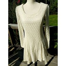 1cfb204043 Anthropologie Black Sheep label ivory lace lined size medium long sleeve  dress