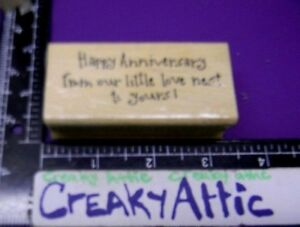 HAPPY ANNIVERSARY FROM OUR LITTLE LOVE NEST YOURS RUBBER STAMPS ART IMPRESSIONS