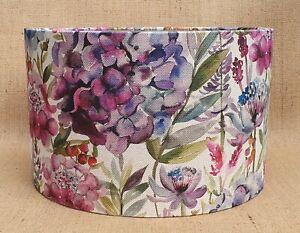 Voyage Maison HYDRANGEA wisteria floral drum clip lampshade 15 20 25 30 35 40cm