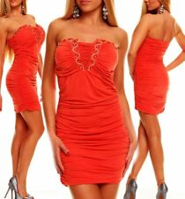 Miss Sexy Donna Bandeau Push Up mini abito party dress glam pietre ridere 34/36/38