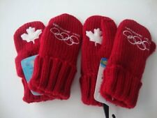 Team Canada 2010 Vancouver Olympic HBC Hudson's Bay Red Mittens Youth x 2 - 2018