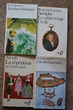 4 französische-sprachige Bücher Belletristik. Queffélec/Constant/Anouilh/Jardin