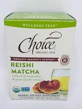Choice Organics Teas Mushroom Reishi Matcha Tea, 16 Tea Bags