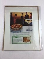 Vintage Circus Nuts Food Art Print Collectible Advertisement 10.5 x 13.5