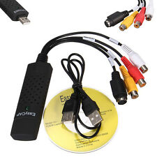 USB 2.0 Audio Video VHS to DVD PC Converter Capture Card Adapter win 7 8 10 64