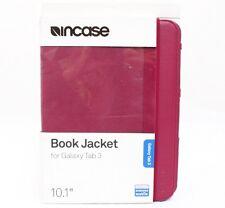 "Genuine Incase Book Jacket Folio Case Samsung Galaxy Tab 3 10.1"" Cranberry New"