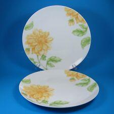 Oneida OLINA Dinner Plates Set of 2 Plate Yellow Flowers