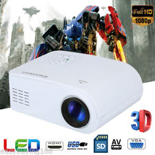 Portable Mini LED 3D HD 1080P Projector Home Cinema Multimedia for Iphone Labtop