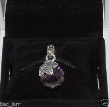 "AUTHENTIC PANDORA CHARM""Morning butterfly, purple & clear cz, 791258cz, #555"